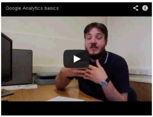 screenshot of the uploaded google analytics training video