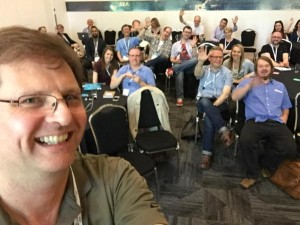Attendees at Everett McKay's session at UX Scotland 2015 conference