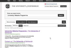 Screengrab of a web page of search results