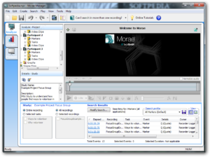 Morae Manager Analyse screen