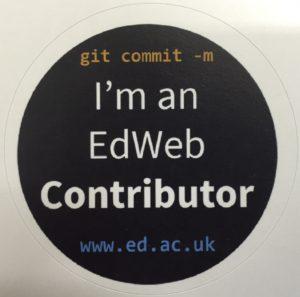 Git Commit! I'm an EdWeb Contributor