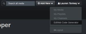 EdWeb Code Generator