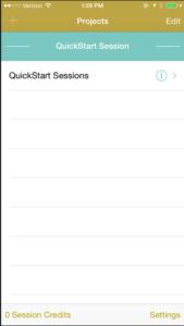 UX recorder start a new session screenshot