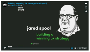 Video title still from Jared Spool's presentation