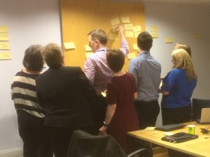 Colleagues in UHRS working together to prioritise their requirements