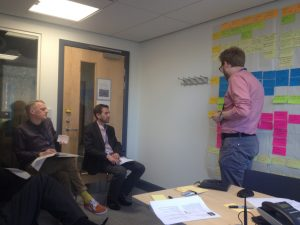 Presenting initial findings of the research to the API Service team